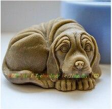 DIY Verkauf hot 3D hund förmigen silikonform fondant Kuchen dekoration form tier Handgemachte seifenform aroma steinformen