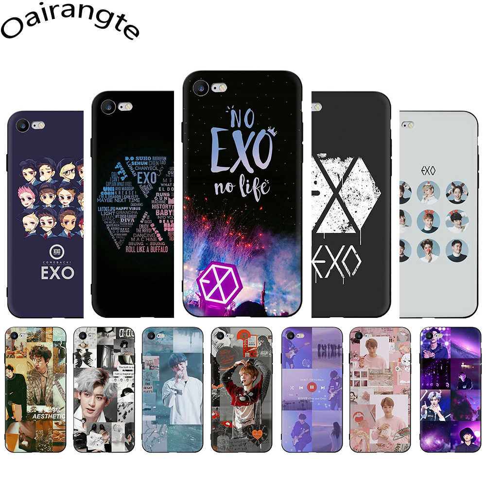 EXO band k-pop Soft Phone Cover Case For iPhone 5 5S SE 6 6S Plus 7 8 Plus X XS XR XS 11 Pro Max