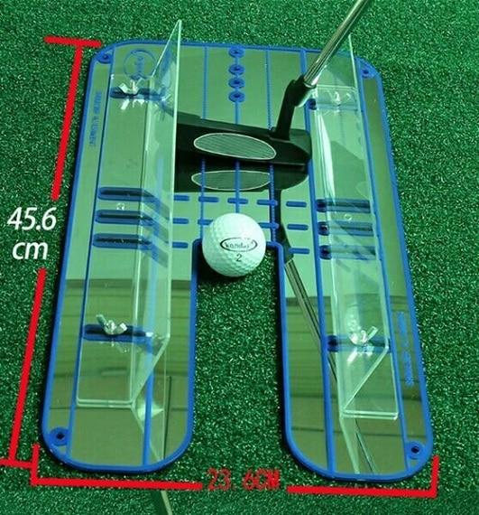 Гольф зеркало обучение выравнивание Eyeline новая помощь тренировочный тренажер портативный-in Обучающие приспособления для гольфа from Спорт и развлечения