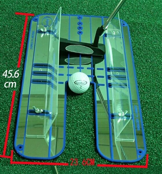Golf Mirror Training Putting Alignment Eyeline New Aid Practice Trainer Portable simulation mini golf course display toy set with golf club ball flag