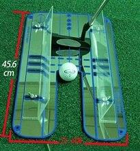 مرآة لعبة غولف وضع المحاذاة جديدة المعونة التدريب eyeline مدرب ممارسة المحمولة