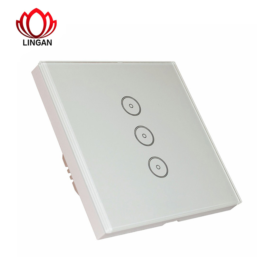 1/2/3 Gang Touch Wall Wi-Fi Switch Panel Wireless Remote Lights and Appliances Smartphone Timing Function EU Smart Home Decor manufacturer xenon wall switch 110 240v smart wi fi switch button glass panel 1 gang ivory white eu touch light switch panel