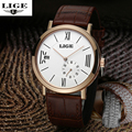 LIGE luxury brand watches the whole high-end automatic mechanical watches men casual simple fashion male watch leather strap
