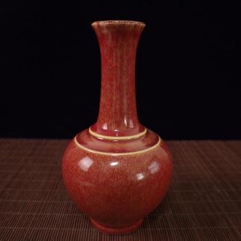 China Old Old Porcelain Red Glaze Porcelain Vase
