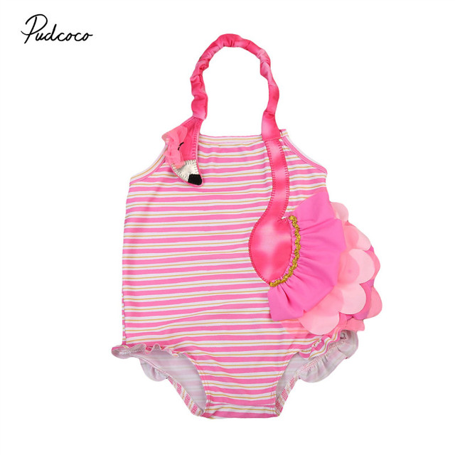 Halter Summer Girls Overalls Embroidery Flamingo Costume Striped Overalls One-Pieces Swimsuit Baby Girls Clothes  sc 1 st  AliExpress.com & Aliexpress.com : Buy Halter Summer Girls Overalls Embroidery ...