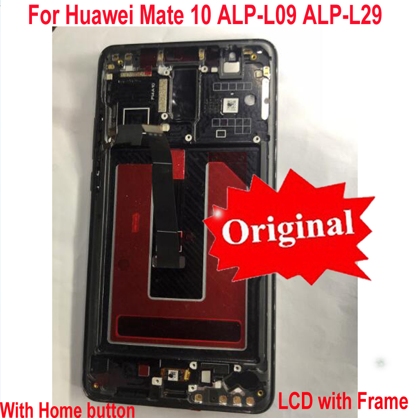 Image 2 - 100% Original Tested Working For Huawei Mate 10 ALP L09 ALP L29 LCD Display Touch Screen Digitizer Assembly Sensor + Frame-in Mobile Phone LCD Screens from Cellphones & Telecommunications