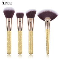 DUcare 4pcs Set Professional Make Up Brushes Contour Powder Foundation Fan Brushes For Makeup Face Makeup