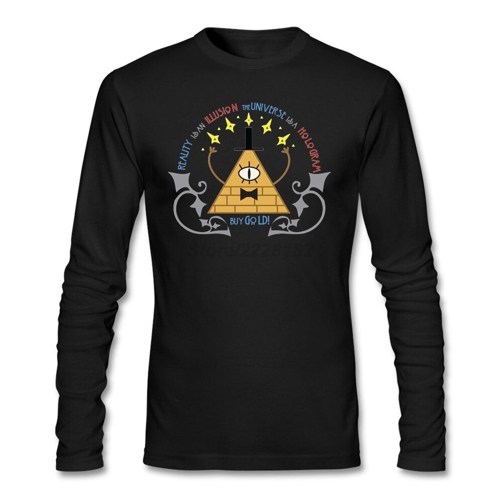 Design t shirt unique - Men Formal Unique Design T Shirt Teenage Bill Cipher Pre Cotton Art Nouveau Fitness Shirt