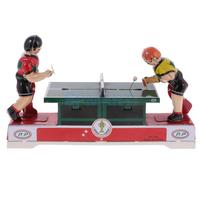 Funny Playing Ping Pong Collectible Tin Toys Creative Vintage Wind Up Toy Clockwork Toys for Adult/Kid's Gift