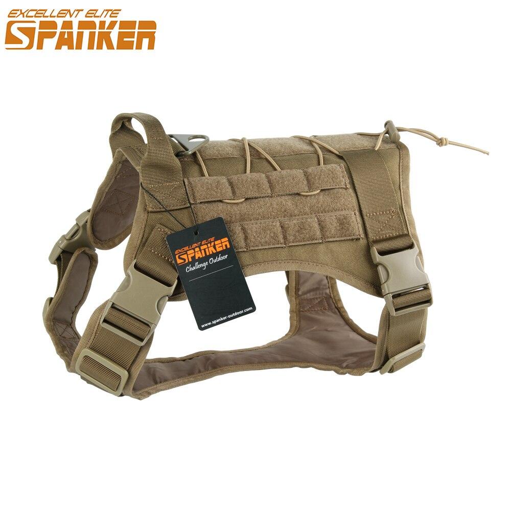 Отличная Элитная одежда для испанцев, для боевых собак, нейлоновая тактическая охотничья уличная Военная жилетка для собак, тренировочный