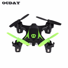 OCDAY RC Drone Model Mini Remote Control Helicopter 2.4GHz 4CH Dron One-touch Stunts Quadcopter Auto Hover Flight Assist Drones