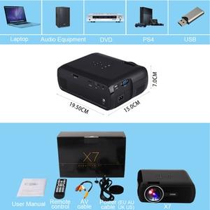 Image 5 - Everycom X7 מיני USB מקרן אנדרואיד led מקרן full hd וידאו נייד כיס קולנוע ביתי טלוויזיה תיאטרון וידאו projecteur 3D