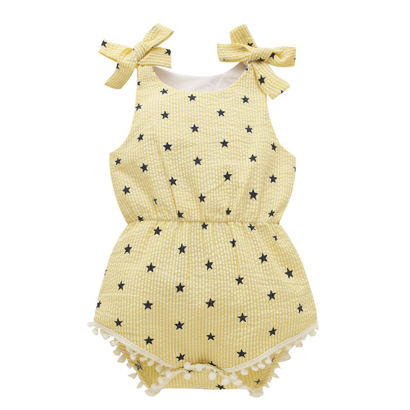 2018 Newborns Baby Girl Princess Bow-knot Straps Summer Conjoined Party Clothes 0-18 M Three Kinds Style Colors G9