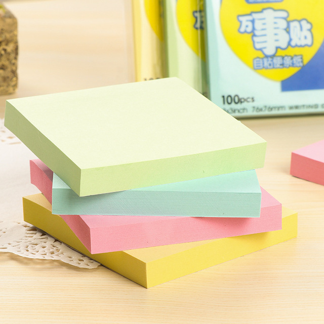sticky notes cute black office love memo pads sticker post bookmark