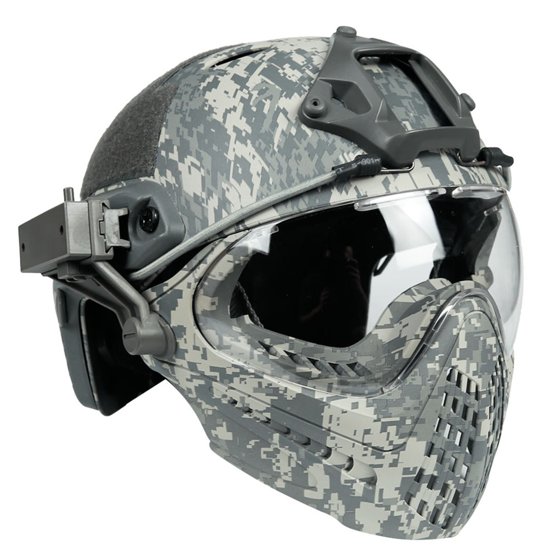 купить Surwish Military Mask Navigator Tactics Camouflage Protecting Helmet for Nerf Outdoors Activities - L по цене 6358.45 рублей