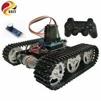 DOIT Беспроводной Управление Smart RC робот комплект по PS2 джойстик цистерны шасси с Uno R3 двигателя Щит DIY игры playstation