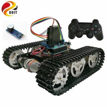 DOIT Senza Fili Intelligente di Controllo RC Kit di Robot da PS2 joystick Scudo Serbatoio Car Chassis con Uno R3 Motore di gioco FAI DA TE playstation