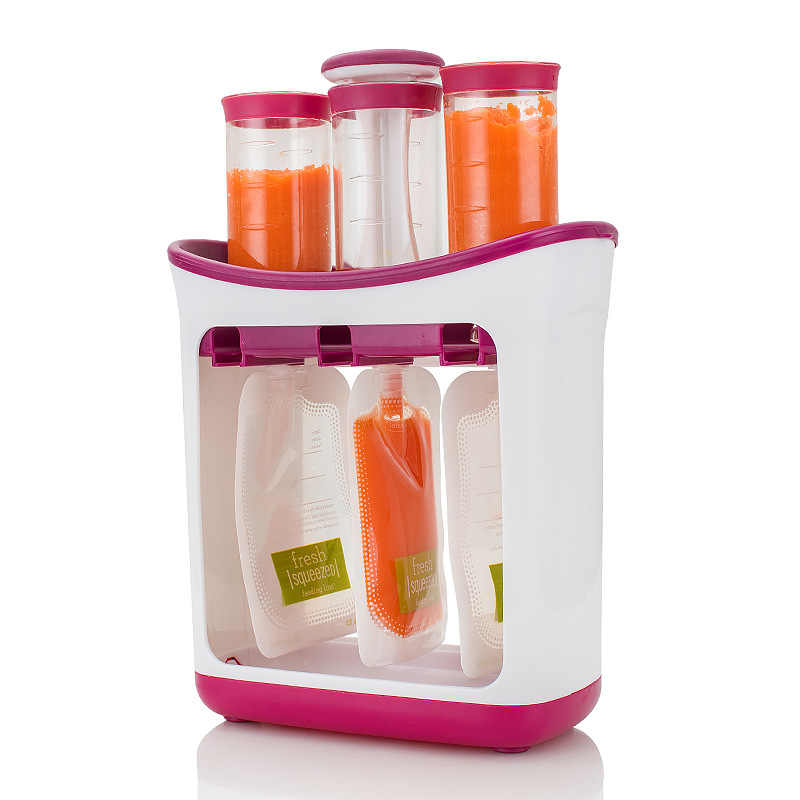 Baby Toddler Food Containers Storage Newborn Feeding Maker Supplies Baby Food Fruit Juice Maker Easy Clean for Kids Storage Bag
