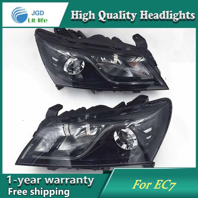 Car Styling Head Lamp case for GEELY Emgrand 7 EC7 EC715 2014-2016 Headlights LED Headlight DRL Lens Double Beam Bi-Xenon HID geely emgrand 7 ec7 ec715 ec718 emgrand7 e7 car right left taillights rear lights brake light original