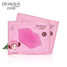BIOAQUA 10pcs Skin Care Crystal Collagen Lip Mask Moisture Essence Lip Care Pads Anti Ageing Wrinkle Patch Pad Gel For Makeup