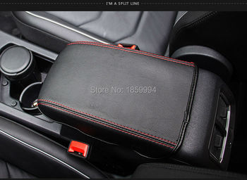 Cho 2016 2017 2018 VW Tiguan mk2 Tay Vịn Điều Khiển Pad Bìa Cushion Hỗ Trợ Box Tay Vịn Top Mat Liner