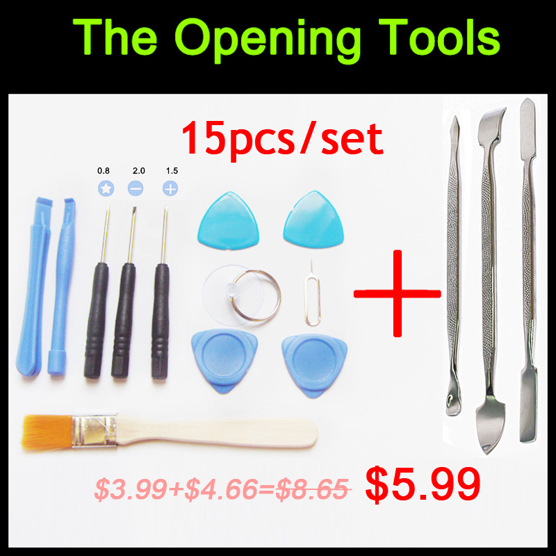 15pcs/set Opening Tools Repair Tools Phone Disassemble Tools set Kit For iPhone iPad HTC Cell Phone Tablet PC