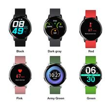 Smart Watch Waterproof Round Toughened Glass Bluetooth Blood Pressure Blood Oxygen Heart Rate Monitor For IPhone Xiaomi Huawei