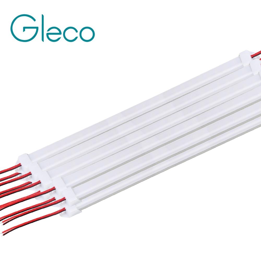 10pcs*50cm DC12V 5730 LED Hard Strip LED Bar Light 5730 5630 with U Aluminium shell +pc cover 5pcs lot 50cm u aluminium shell dc 12v 36 smd 5630 led hard rigid led strip bar light with pc cover