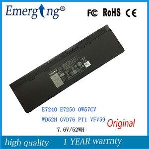 Оригинальный аккумулятор для DELL Latitude E7240 E7250 0W57CV WD52H GVD76 PT1 VFV59, 7,6 В, 52 Вт/ч
