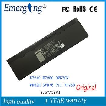7.6V 52wh New Original Battery for DELL Latitude E7240 E7250 0W57CV WD52H GVD76 PT1  VFV59