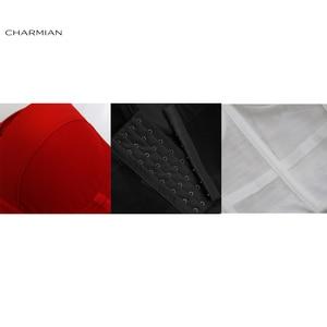 Image 5 - Charmian damski seksowny czarny przezroczysty siatkowy paski spaghetti stanik gorsetowy gorset Clubwear krótki top