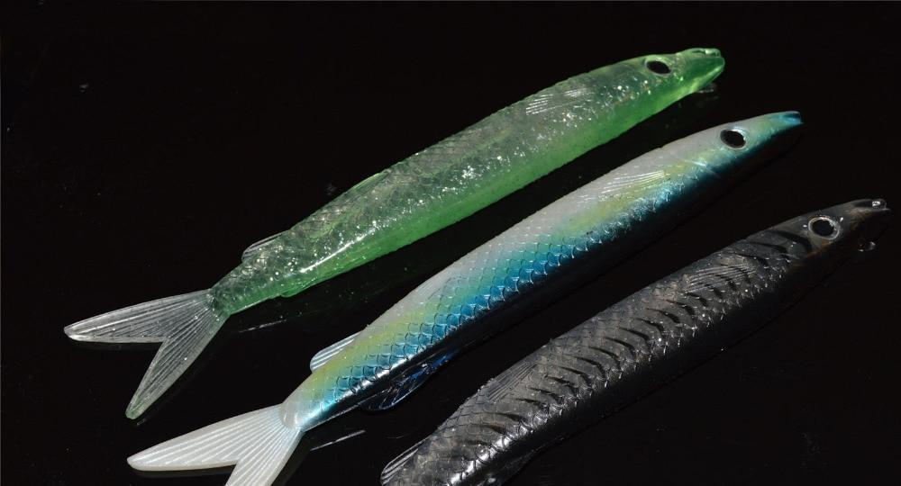 3PCS Deep sea Fishing soft Barracuda Replica Ripper fish Lure Baits 21.5cm/51.5g Free shipping