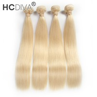 HCDIVA Hair Products Free Shipping Straight Brazilian Non Remy Hair Weft 1pc Only Color 613 12