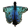 Fashion 2017 Soft Fabric Butterfly Wings Shawl Fairy stole Ladies Nymph ponchos and capes shawl best gift #478