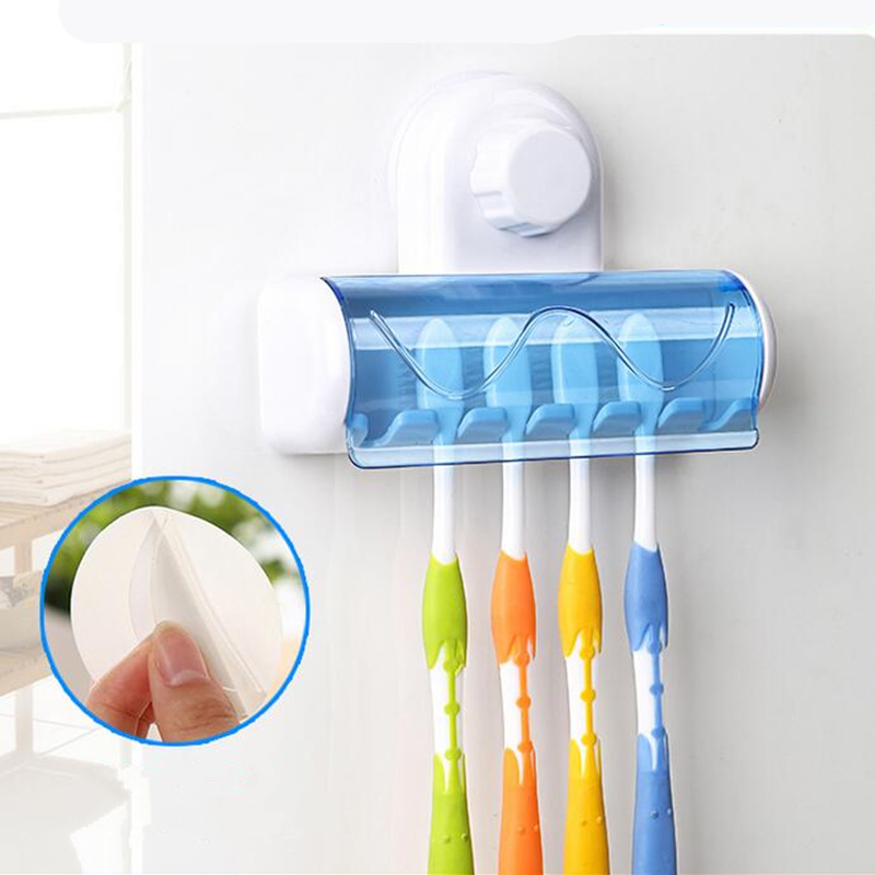 Selling Bathroom Accessories ABS + PVC Suction Cup Toothbrush Holder Kit Toothbrush Holder Bathroom Products