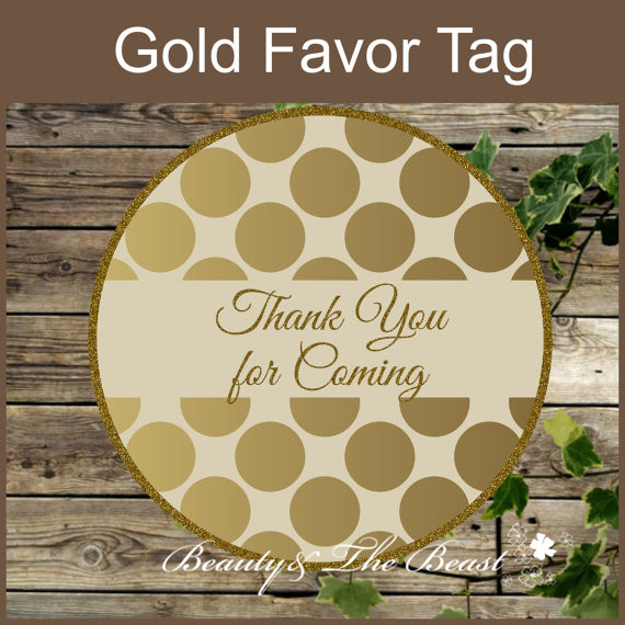 Personalized Wedding Gold Gift Tags Wedding Favors Stickercupcake