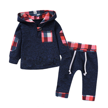 2019 Autumn Plaid Newborn Clothes Baby Boy Clothes For Boys Outfits Kids Suit Baby Costume Sets Infant Clothing 6 9 12 24 Month 1
