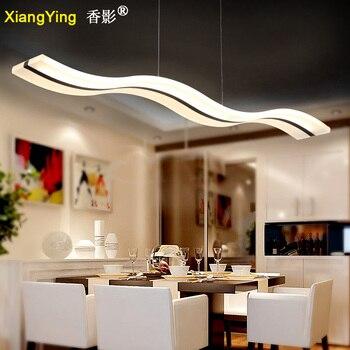 מודרני גל אקריליק Led תליון אור לחדר אוכל AC 110/220V ברק Hanglamp Lampadario Lamparas דה Techo