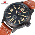 Марка NAVIFORCE Relogio Masculino Дата День Часы Мужчины Кожаный Ремешок Наручные Военные Спортивные Часы Мужчины Моды Случайные Кварцевые Часы