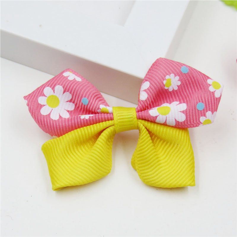1PCS Double Color Flowers WITHOUT CLIP Girl Hair Accessory Bow For Best DIY Headdress Semi-finished Products 2018 Accessories