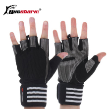 Queshark Sport Gym Gloves Half Finger Breathable Weightlifting Fitness Gloves Dumbbell Men Women Body Building Gym Gloves M/L/XL