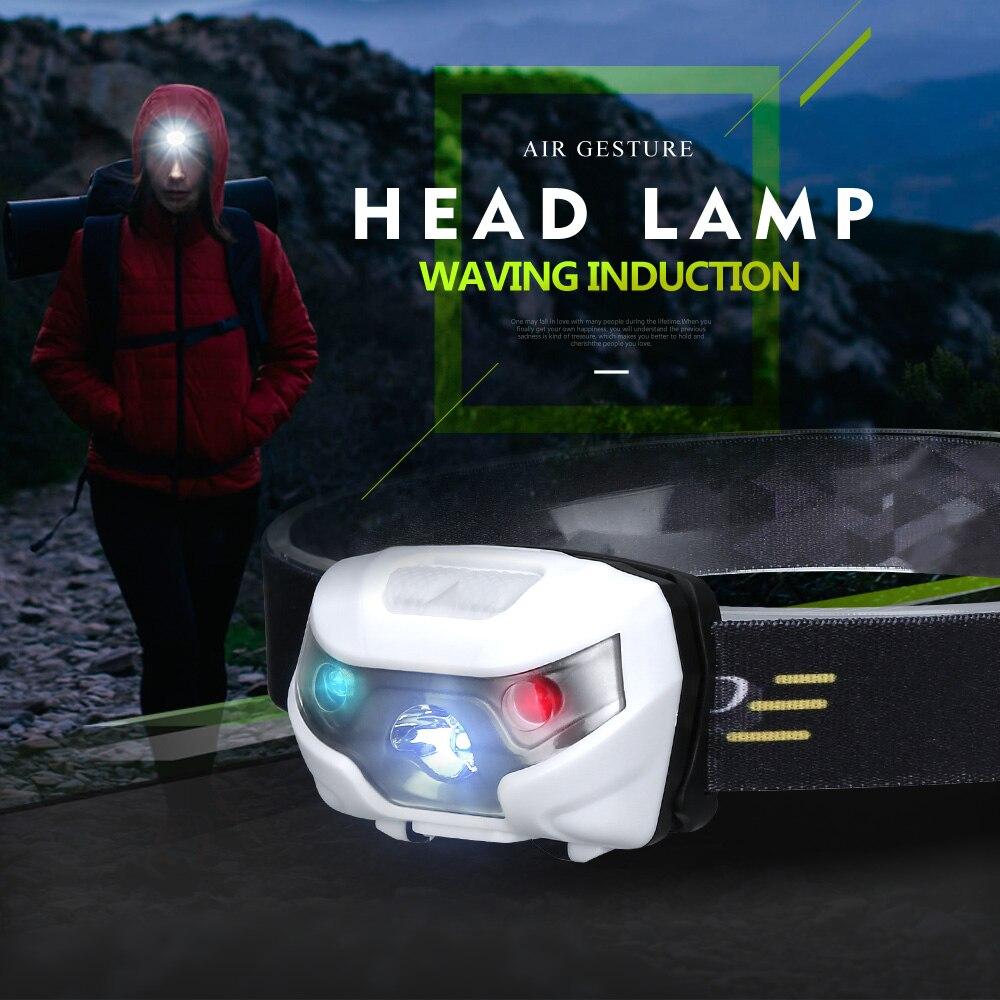 Mini Rechargeable LED Headlight With USB Body Motion Sensor Headlight Waterproof Leds Flashlight Outdoor Fishing Camping Hiking