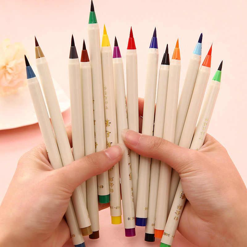 20 colores de pintura de pincel suave juego de rotuladores de arte acuarela pluma para dibujar libros para colorear Manga de dibujos de caligrafía cómica