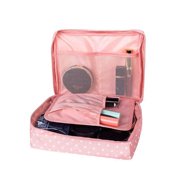 bf14db3a6a23 Online Shop Women s Travel Cosmetic Bags Beautician Vanity Necessary Pouch  Toiletry Wash Bra Underwear Makeup Case Organizer Accessories