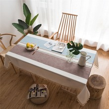 Europe Style Decorative Table Cloth Cotton Linen Tassel Lace Tablecloth Dining Table Cover For Kitchen Home Decoration