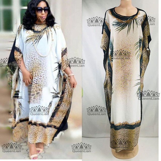 0759be9a53 Aliexpress.com : Buy 2018 (L XXXL) New Fashion Leopard Grain Pattern  Chiffon Super Size African Loose Long Dashiki Traditional Party Dress For  Lady ...