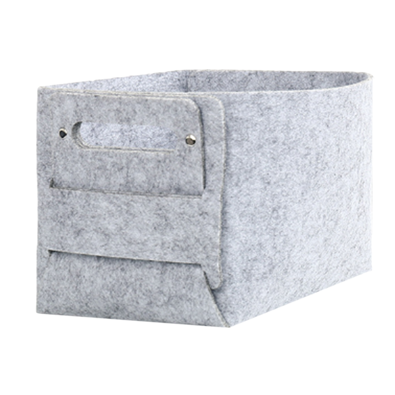 Fashion Felt Dirty Clothes Basket Collapsible Convenient Laundry Basket Baby Toy Book Snacks Box Sundries Storage Organization