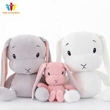 Yenidoğan bebek yastık odası dekorasyon peluş oyuncaklar bebek çocuk tavşan bebek yatak uyku oyuncak bebek için Boy tavşan bebek odası dekor