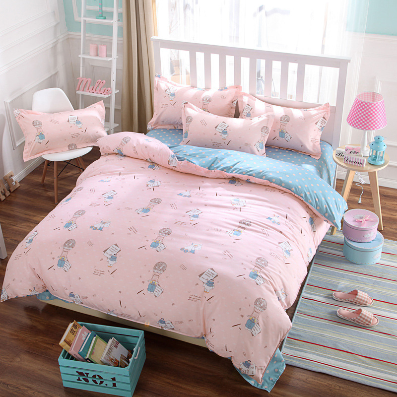 High Quality Kids Pink Bedding Sheets Cheap Bedsheets Dorm Duvet Covers Canada Twin Bed  Sheet Sets Queen Quilt Covers Full Size Comforters In Bedding Sets From  Home ...