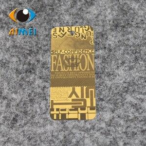 Image 4 - Ücretsiz kargo özelleştirilmiş/asmalı özeletiketler kumaş baskılı giysi etiketi, salıncak etiketleri, OEM askılı etiketler etiketleri/giyim kişiselleştirilmiş